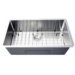 SR3218-16 - 32 Inch Pro Series Large Rectangle Single Bowl Undermount Small Radius Corners Stainless Steel Kitchen Sink