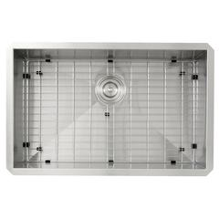 ZR2818-8-16 - 28 Inch Pro Series Large Rectangle Single Bowl Undermount Zero Radius Stainless Steel Kitchen Sink, 8 Inch Deep