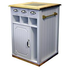 Kitchen Island Pantry Cart, 24 x 24 x 35, White