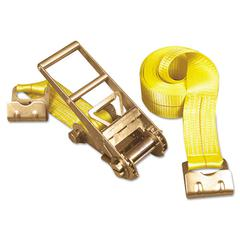 Keeper Ratchet Tie-Down Strap, 3in x 27ft, 15000lb, Flat Hook Ends