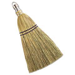 "Whisk Broom, Corn Fiber Bristles, 10"" Bristles, Metal Handle"