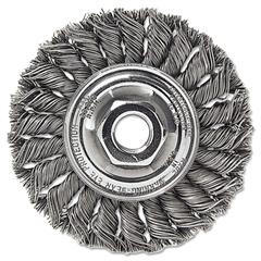 """Weiler Dualife ST-8 Twist Knot Wire Wheel, 8""""dia, .023 Wire"""