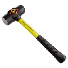 "Steel-Head Sledge Hammer, 4lb, 17"" Tool Length, CS Grip, Fiberglass Handle"