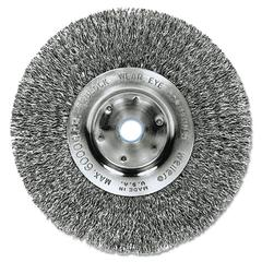 "Trulock TLN-8 Narrow-Face Crimped Wire Wheel, 8"" dia, .014 Wire, Arbor Dia: 5/8"""