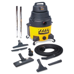 Industrial Wet/Dry Vacuum, 6.5hp, 8gal Capacity, 25lb, Black/Yellow