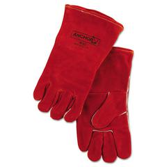 Anchor Brand 18GC Welding Gloves, Split Cowhide, Large