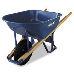 Contractor's Wheelbarrow, 6 Cubic Feet Capacity, Steel Tray