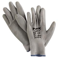 Memphis FlexTuff Latex Dipped Gloves, White/Blue, Medium
