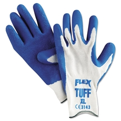 Memphis Premium Latex-Coated String-Knit Gloves, XL