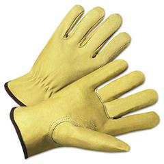4000 Series Pigskin Leather Driver Gloves, Medium