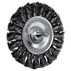 """Weiler Dualife STM-3 Twist Knot Wire Wheel, 3"""" dia, .0143 Wire"""