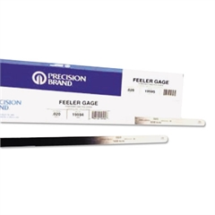"Precision Brand Flat Length Steel Feeler Gauge, 1/2"" x 12"""