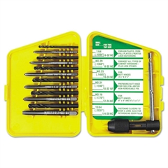 S-112C High-Carbon Steel Tap and HSS Drill Bit Set