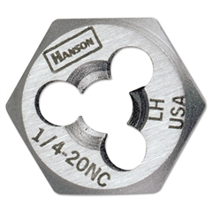 "IRWIN High-Carbon Steel Re-Threading Fractional Hexagon Dies, 3/4""-10"