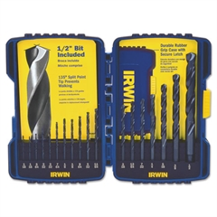 15-Piece Cobalt HSS Fractional Drill Bit Set