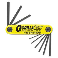"Bondhus GorillaGrip Fold-Up Tool Set, .05""-3/16"""