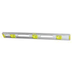 "Stanley Tools Top Read I-Beam Level, 24"", Silver, Aluminum"