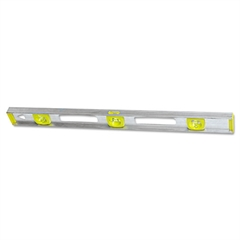"Top Read I-Beam Level, 48"", Silver, Aluminum"