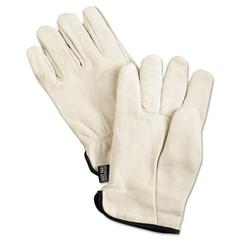 Memphis Premium Grade Leather Insulated Driver Gloves, Cream, X-Large