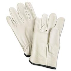 Unlined Pigskin Driver Gloves, Cream, Medium