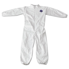 DuPont Tyvek Coveralls, Zip Closure, Elastic Wrist/Ankles, Medium