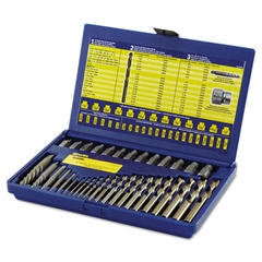 35-Piece Screw Extractor/Drill Bit Set; SAE