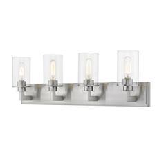 2 Light Flush Mount, Brass and Brass