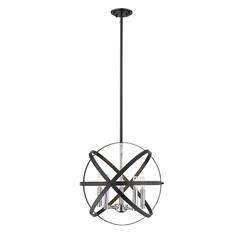 3 Light Flush Mount, Matte Black + Chrome and Clear Seedy