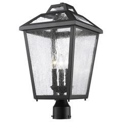 5 Light Chandelier, Bronze and Clear