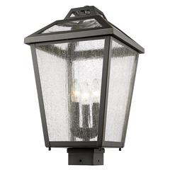 9 Light Chandelier, Bronze and Clear