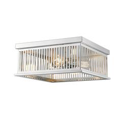 Camellia Flush Mount, Polished Nickel