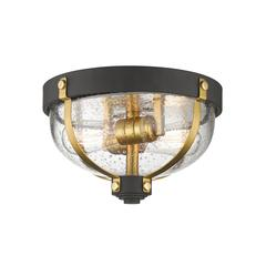 Burren Flush Mount, Bronze + Brass