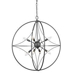8 Light Pendant, Bronze