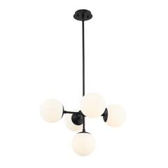 3 Light Semi Flush Mount, Java Bronze and White Mica + Honey Amber Tiffany