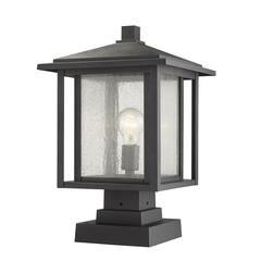 Aspen Outdoor Pier Mounted Fixture, Black