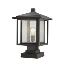 Aspen Outdoor Pier Mounted Fixture, Oil Rubbed Bronze