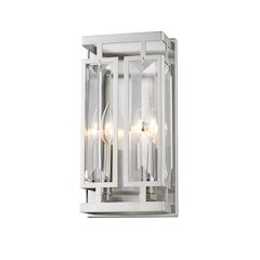 2 Light Wall Sconce, Brushed Nickel