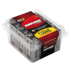 Rayovac Ultra Pro Alkaline Batteries, 9V, 12/Pack