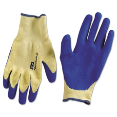 Tuff-Coat ll Cut-Resistant Gloves, Blue Latex Palm, Medium