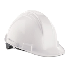 A-Safe Peak Hard Hat, White, Rain Trough