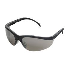 Klondike Protective Eyewear, Black Frame, Silver Mirror Lens