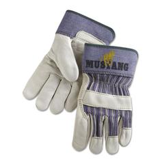 Memphis Mustang Grain-Leather-Palm Gloves, Medium