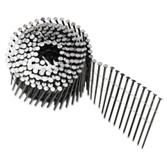 "Round Head Framing Nail Coil, 120, Plain, 3""DP"