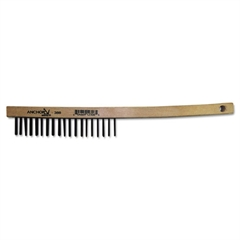 Hand Scratch Brush, Curved, Carbon Steel Shoe, Wood Handle