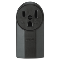 Cooper Wiring Devices 1252 Receptacle, Black
