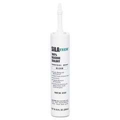 Silatech Clear RTV Silicone Adhesive Sealant, Clear, 10.15oz
