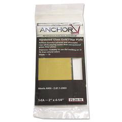 "Anchor Brand Gold Filter Plate, 2"" x 4"", #10, Glass"