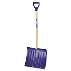 "Jackson Arctic Blast Snow Pusher/Shovel, 18"", Aluminum, w/ Wear Strip"