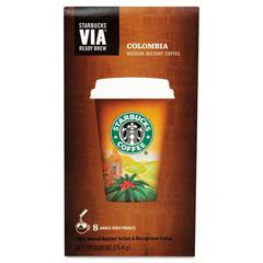 VIA Ready Brew Coffee, 3/25oz, Colombia, 8/Box