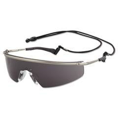 Triwear Metal Protective Eyewear, Platinum Frame, Gray Anti-Fog Lens